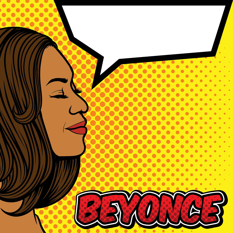 beyonce pop art background vector