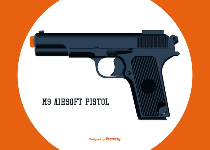 Vector Airsoft Pistol Illustration
