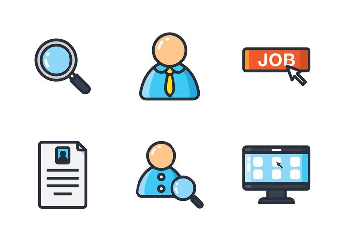 Job Search Line Icon