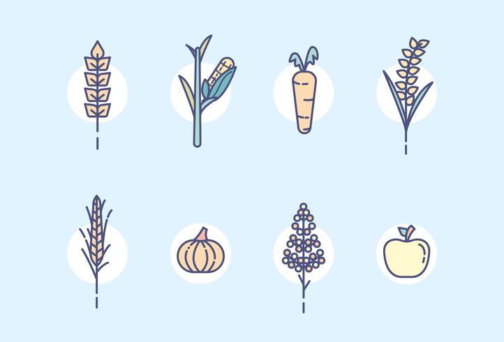 Vector de plantas de granja