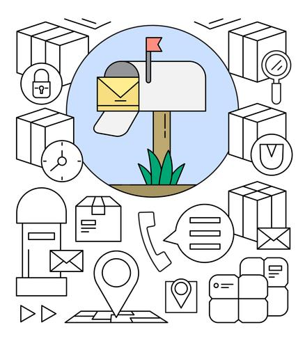 Free Postal Service Vector Elements