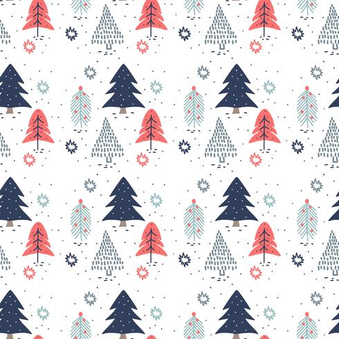 Hand Drawn Christmas Trees Pattern