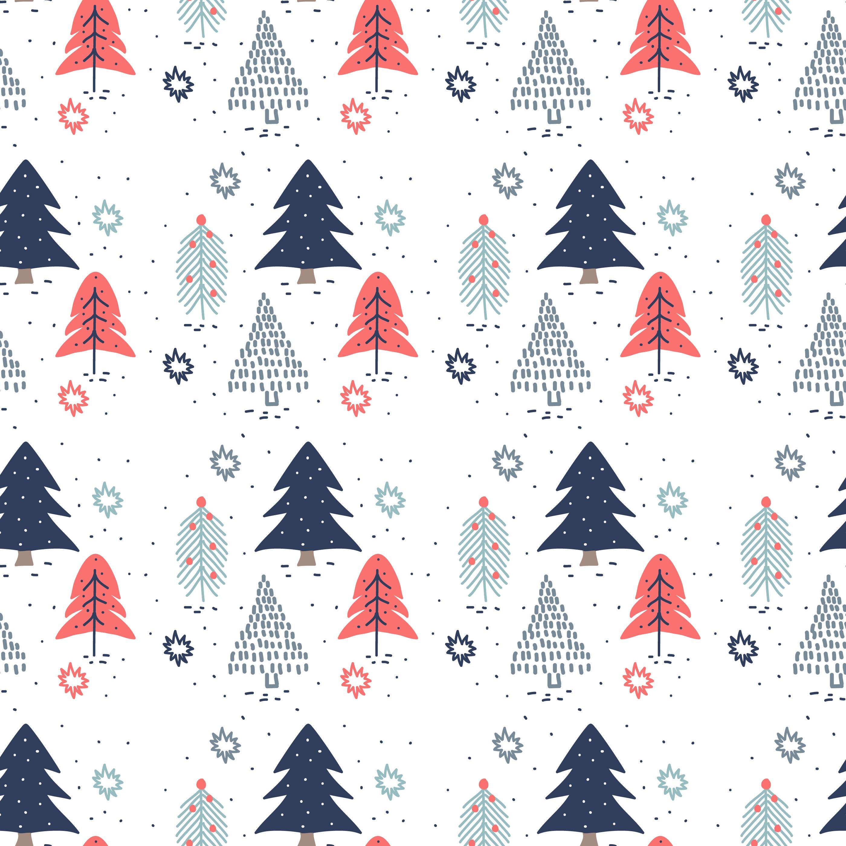 Hand Drawn Christmas Trees Pattern 170954 Vector Art at ...