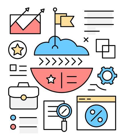 Gratis Business Growth Vector Illustrationer