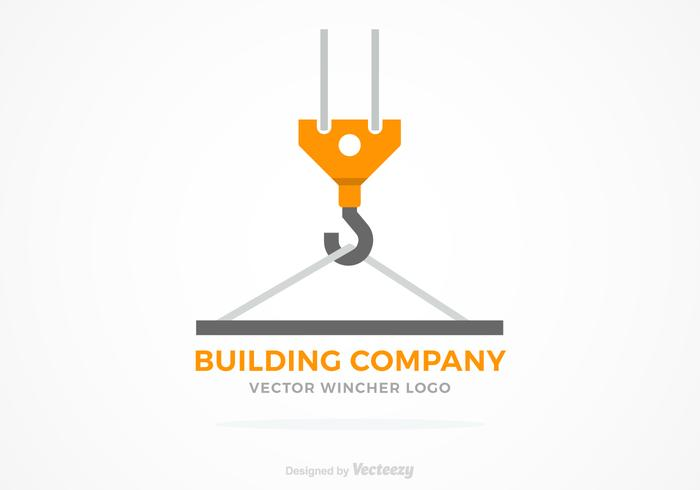 Winch Construction Vector Logo Concept