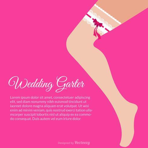 Female Leg With Wedding Garter Vector