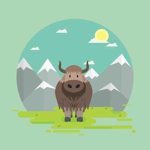 Ilustración de Yak gratis