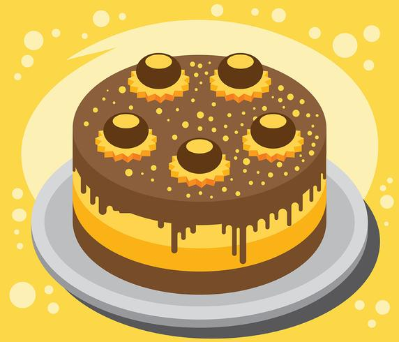 Ilustração do bolo de Buckeye