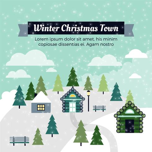 Cartão de Natal grátis para o vetor de design plano