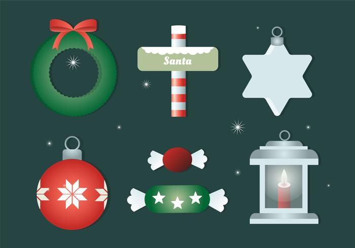 Free Flat Design Vector Christmas Elements