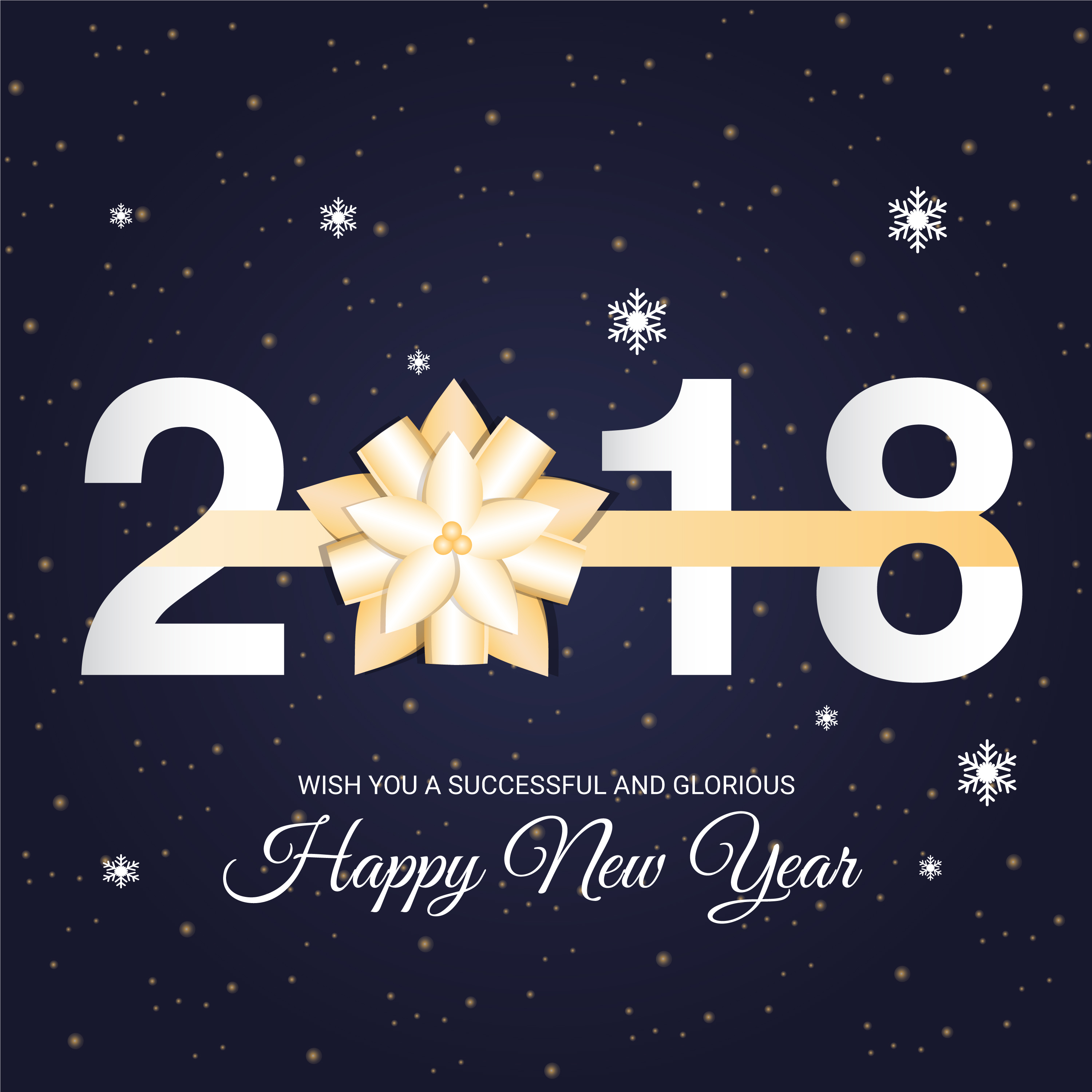 Free Flat Design Vector New Year Greeting Download Free Vector Art