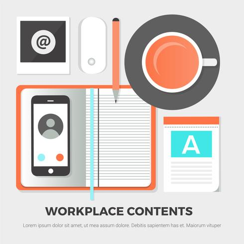 Elementi di Office vettoriali gratis Design piatto