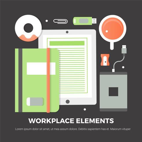 Gratis Flat Design Vector Digital Office Elements
