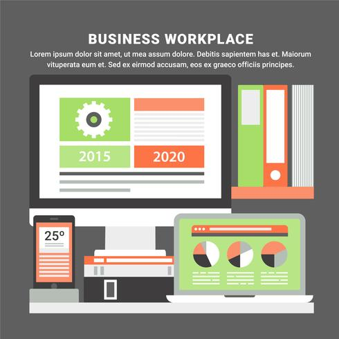 Free Flat Design Vector Business Elements