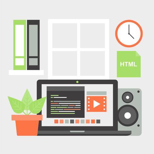 Elementos de trabajo Vector Design Flat gratis