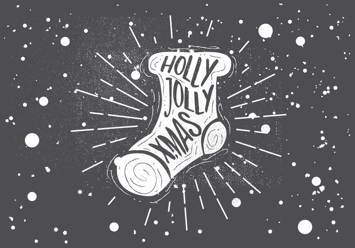 fria händer ritade jul socket vektor hälsningskort