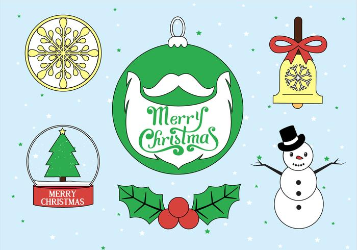 Free Christmas Vector Elements Illustration