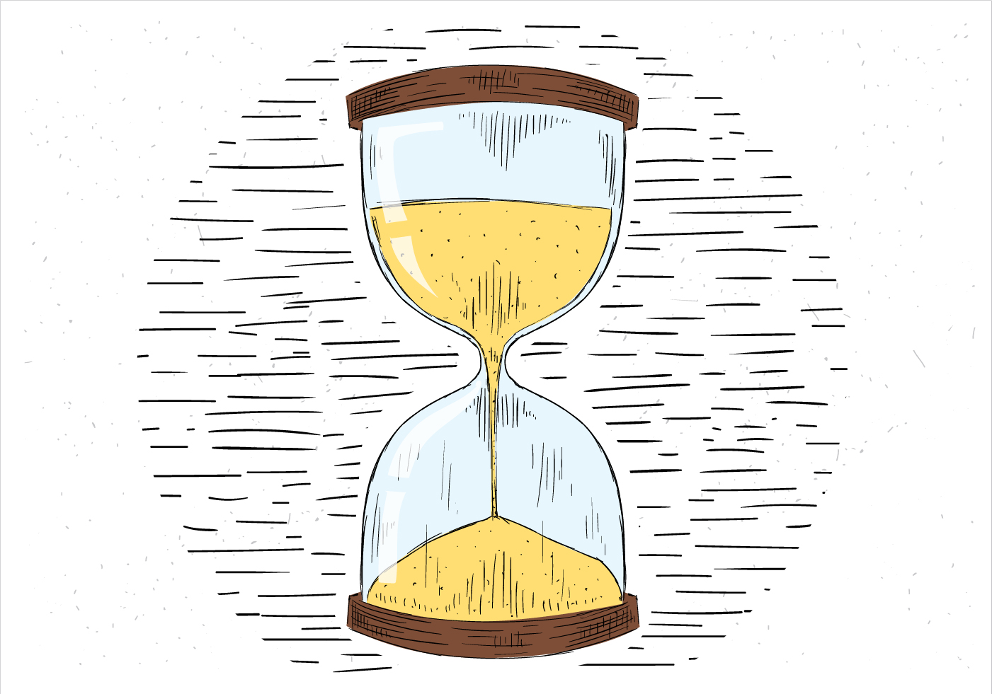 sand clock free vector art