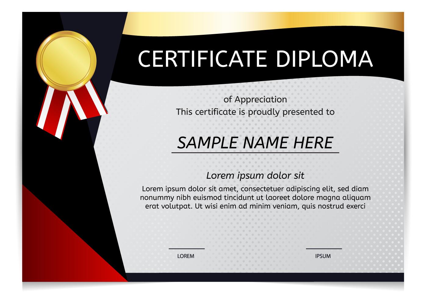 Diploma Gratis Vector - (7.476 Descargas Gratis)