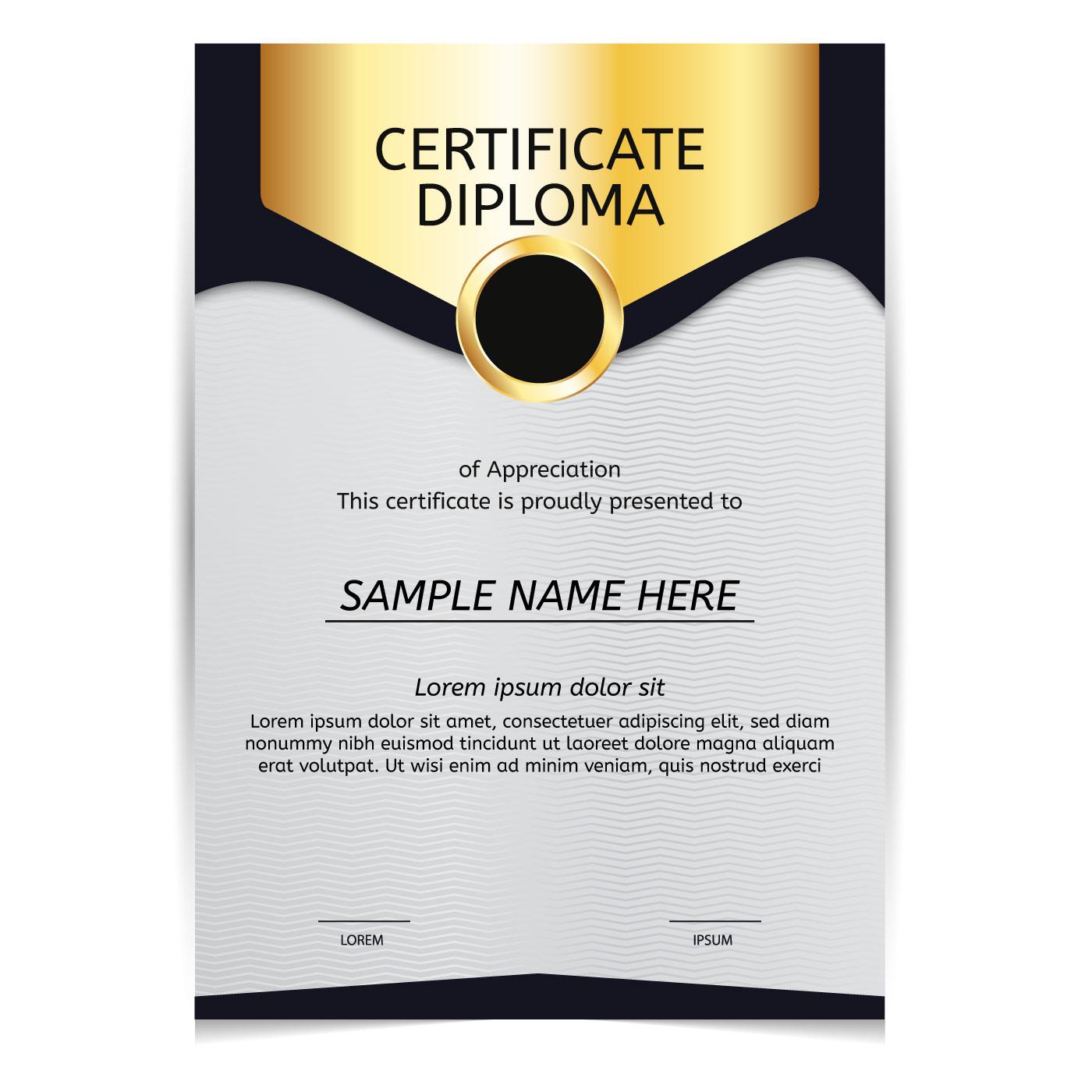 Vector de diploma de oro - Descargar Vectores Gratis