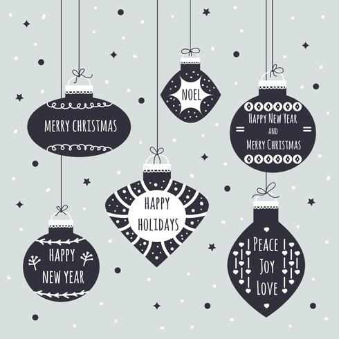 Christmas Balls Vector Background