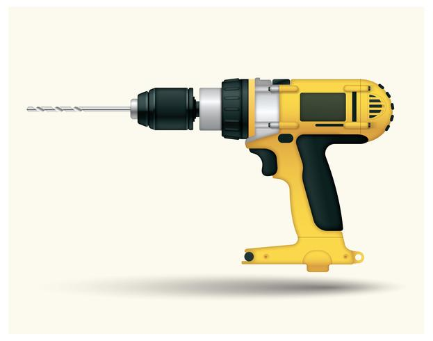 Free Yellow Drill Vector