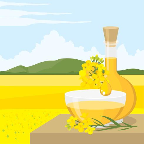 Canola Oil Product Free Vector