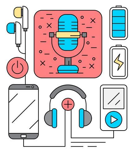 Icone di intrattenimento audio