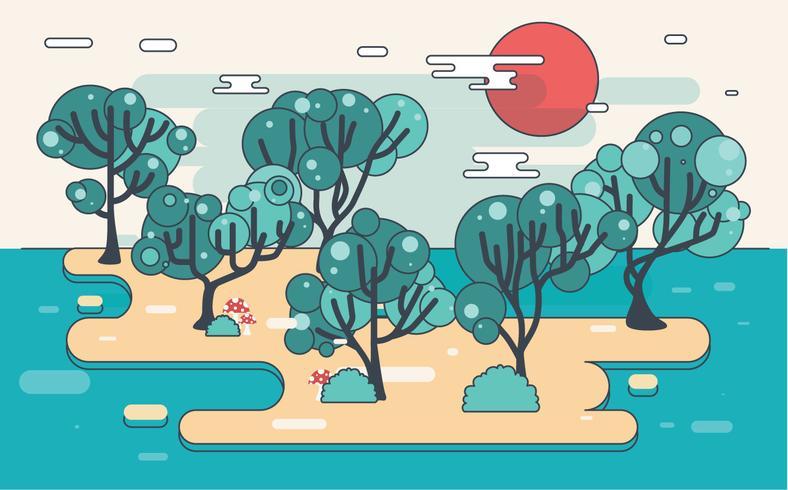 Gomme arbre Illustration vecteur