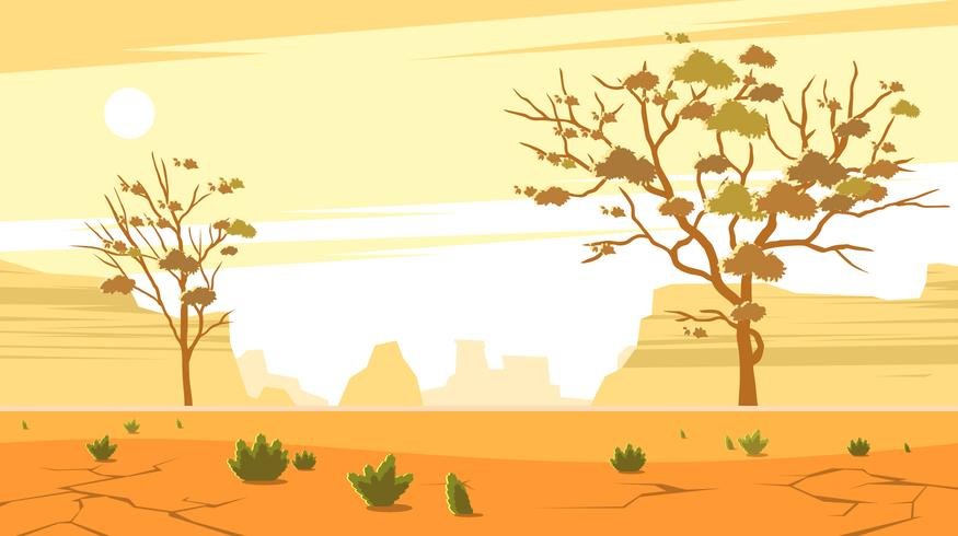 Gum Trees In The Barren Wasteland Free Vector
