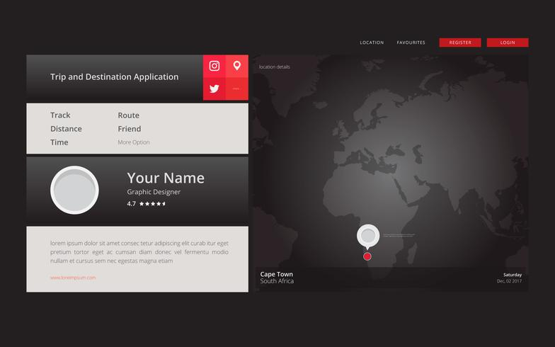 Global Maps Location and Weather Website Themes Vector