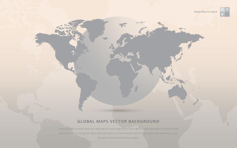 Global Maps Vector Background.