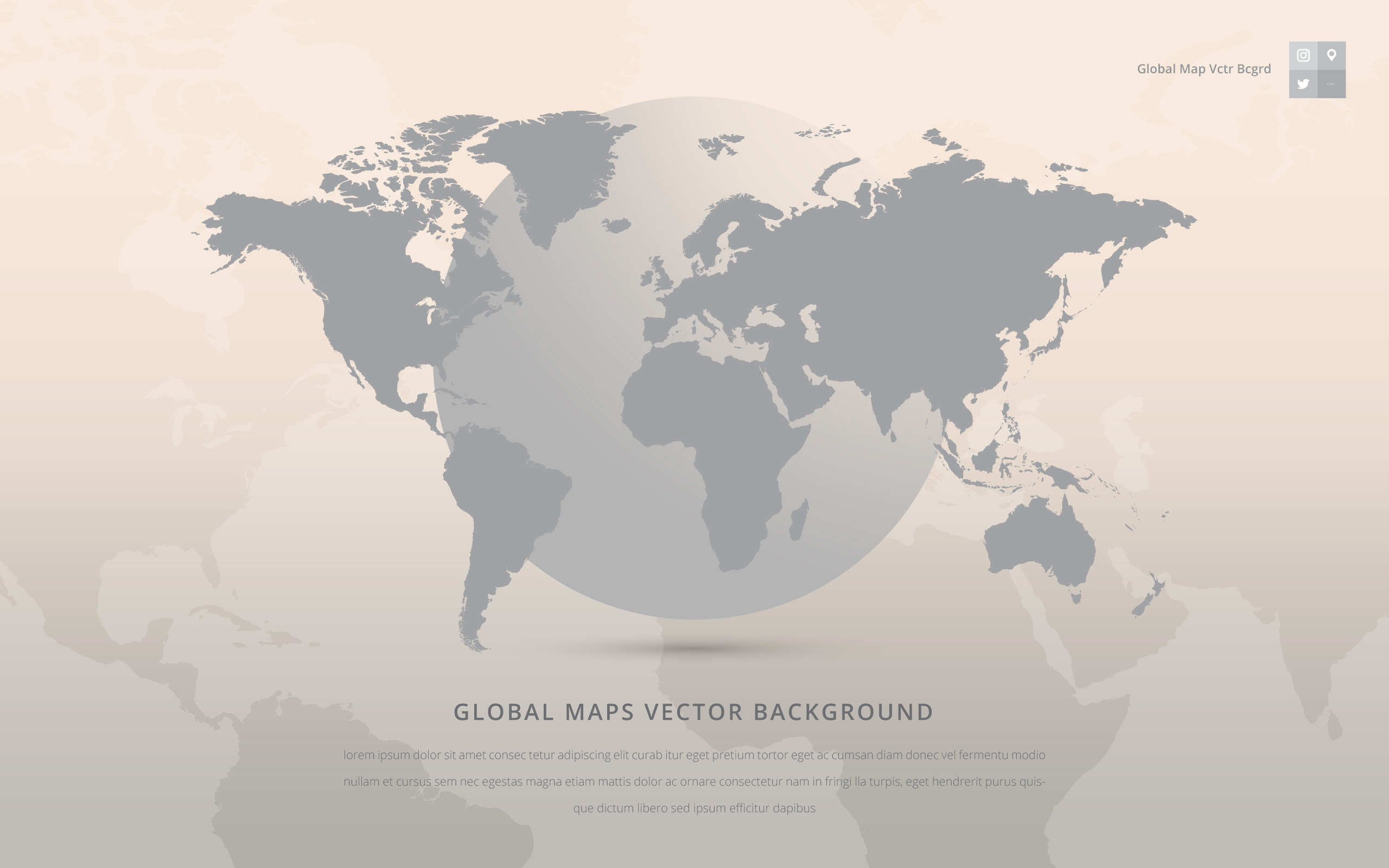 Global Maps Vector Background