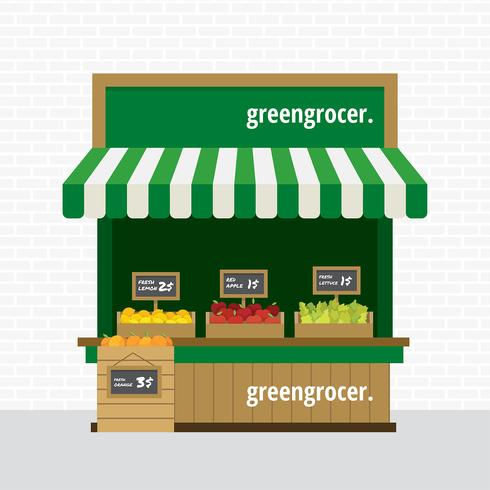 Greengrocer Concession Free Vector