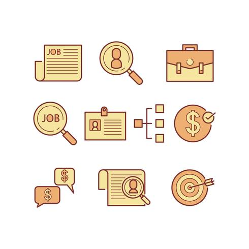 Free Job Search Icon Vector