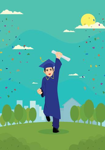 Gratis Graduate Boy Illustration