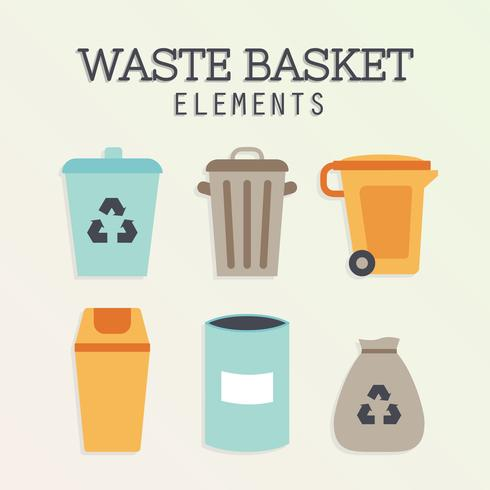 Free Waste Basket Vector