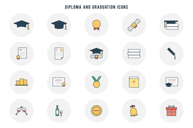 Free Diploma and Graduation Vectors