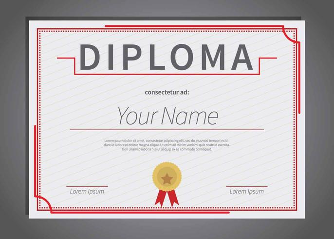Free Diploma Template Illustration