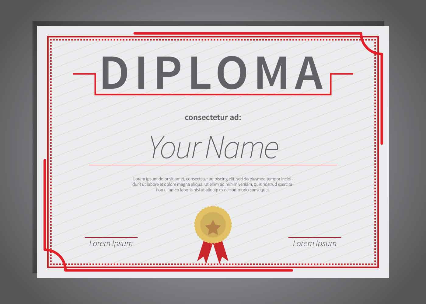 Ilustración de plantilla de diploma gratis - Descargue Gráficos y ...