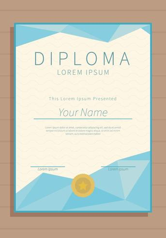 Free Vertical Diploma Template Illustration