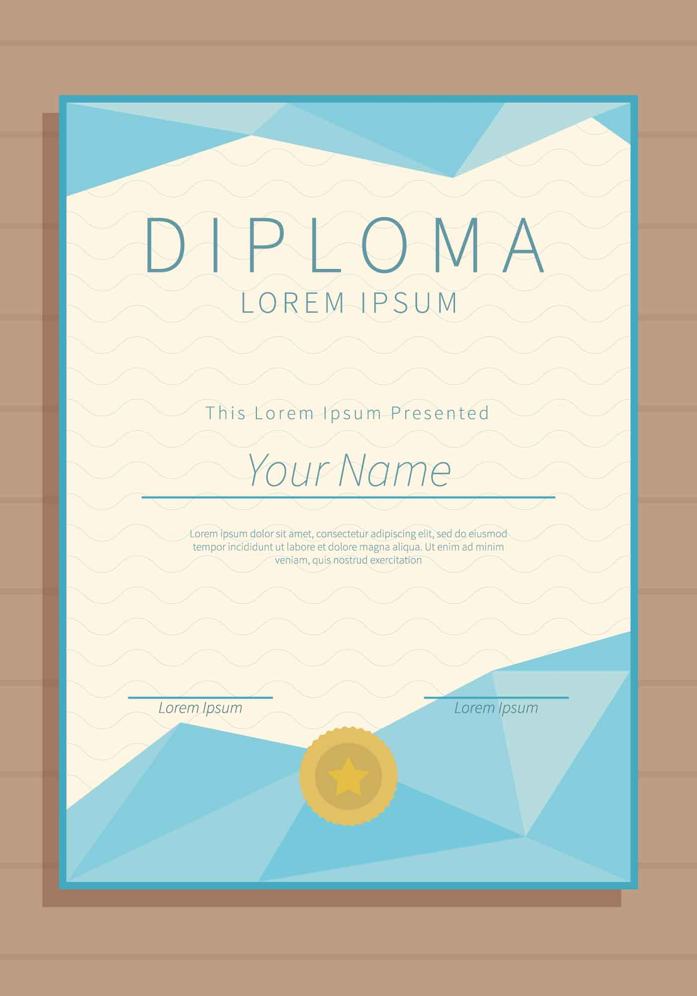 Free Vertical Diploma Template Illustration - Download ...