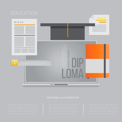 Diploma studie illustratie