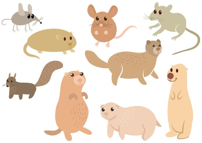 Free Cute Wild Rodents Vectors