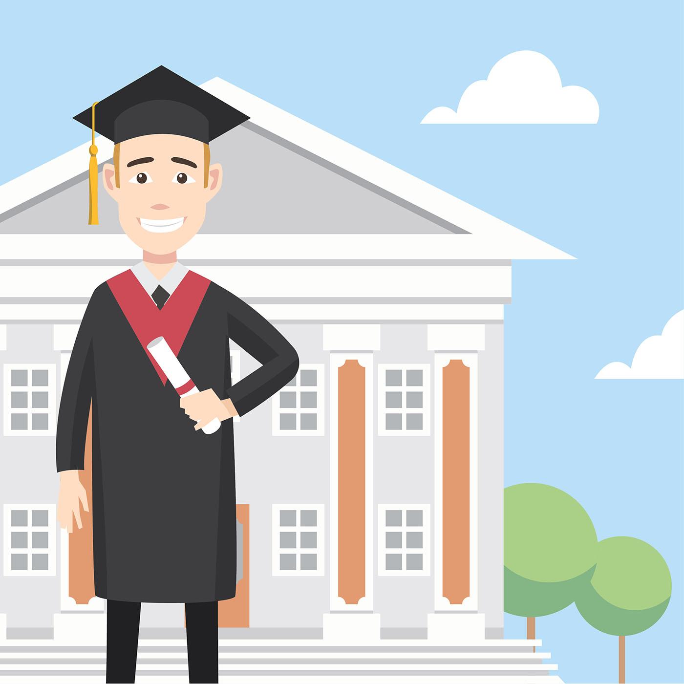vector libre de graduado de diploma - Descargue Gráficos y Vectores ...