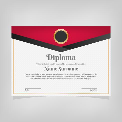 Certificate Template Awards Diploma vector