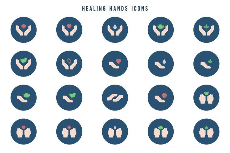 Gratis helande händer vektorer