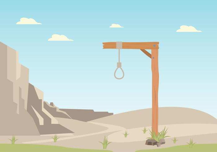 Gallows With Desert Background