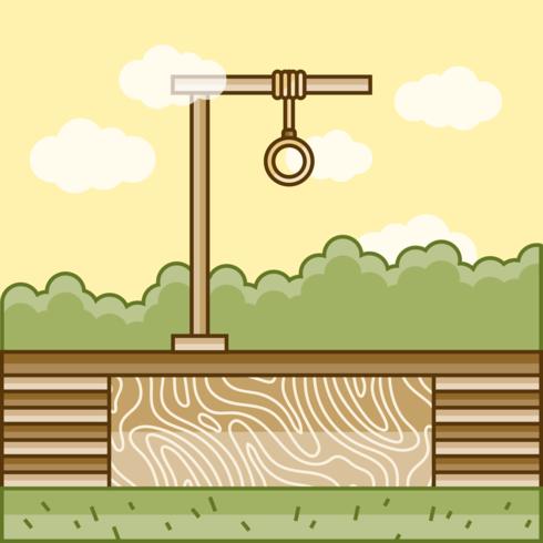 Gallows vectorillustratie