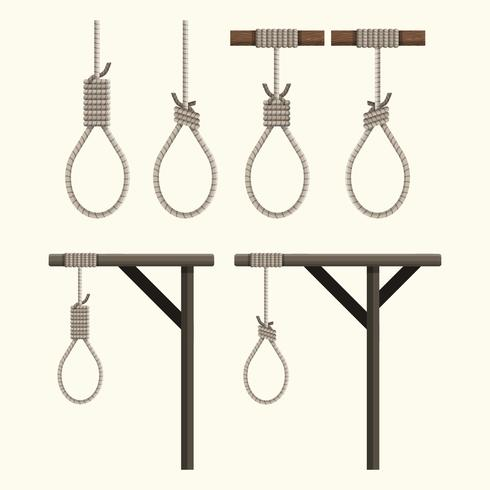 Set of Gallows Vector Collection